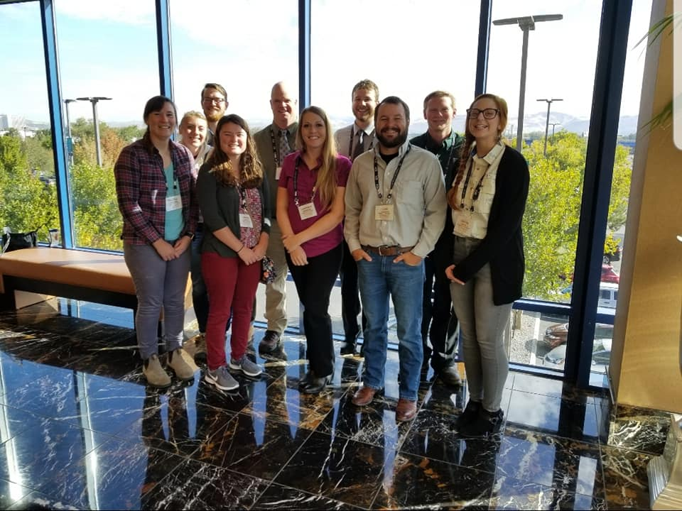 Dr. Jim Lamer and graduate student group photo
